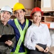 Portrait of Happy Foreman With Supervisors — Stock Photo