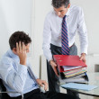 Businessmen Overwhelmed By Load Of Work - Stock Photo