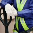 Midsection Of Young Foreman In Protective Clothing — Stock Photo #15649051