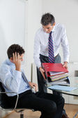 Businessmen Overwhelmed By Load Of Work — 图库照片