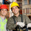 Happy Foreman At Warehouse - Stockfoto