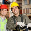 Happy Foreman At Warehouse - Stock Photo
