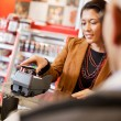 Mobile Phone Payment Using NFC - Stock Photo