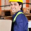 Foreman Working At Warehouse - Stock Photo