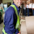 Happy Foreman At Warehouse — Stock Photo #16363459