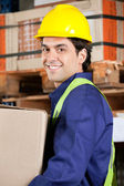 Foreman Working At Warehouse — Stock Photo