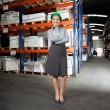 Confident Female Supervisor At Warehouse — Stock Photo