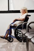 Elderly Woman On Wheelchair — Stock Photo