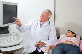 Radiologist With Female Patient At Clinic — Stock Photo