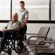 Stock Photo: MWith Disabled Grandfather