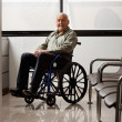 Stock Photo: Senior MOn Wheelchair
