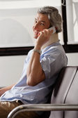 Happy Man On Phone Call — Stock Photo