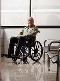 Senior Man On Wheelchair — Stock Photo