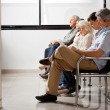 Stock Photo: Waiting For Doctor In Hospital Lobby