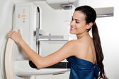 Female Taking Mammogram X-ray Test — Stock Photo
