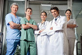 Medical Professionals Standing With Hands Folded — Stock Photo