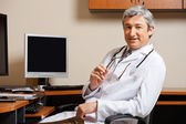 Male Doctor In Clinic — Stock Photo