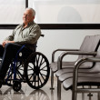 Disabled Senior Man Looking Away - Stock Photo