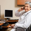 Happy Doctor On Call - Stock Photo