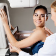 Female Undergoing Mammogram X-ray Test - Stock Photo