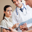Medical Coworkers Standing Together - Stockfoto