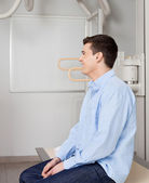 Man In X-ray Room — Stock Photo