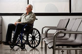 Disabled Senior Man Looking Away — Stock Photo