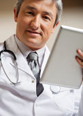 Doctor Holding Digital Tablet — Stock Photo
