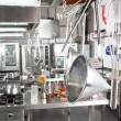 Utensils Hanging In Commercial Kitchen — Stock Photo