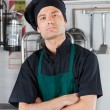 Serious Male Chef With Arms Folded — Stock Photo