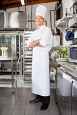 Confident Male Chef In Kitchen — Stock Photo