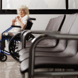 Senior Woman On Wheelchair - Stock Photo