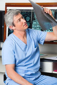 Radiologist Analyzing Patient's X-ray — Stock Photo