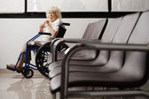Senior Woman On Wheelchair — Stock Photo