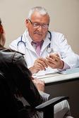 Doctor Going Through Medicine Box — Stock Photo