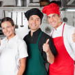 Chefs Giving Thumbs Up — Stock Photo