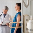 Male Patient Undergoing X-ray Test — Stock Photo