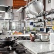 Utensils On Counter In Commercial Kitchen - Foto de Stock