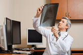 Radiologist Reviewing Shoulder X-ray — Stock Photo