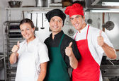 Chefs Giving Thumbs Up — Stockfoto