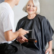Stock Photo: Customer And Hairstylist Having Conversation
