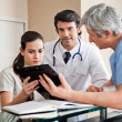 Medical Professionals at Reception — Stockfoto