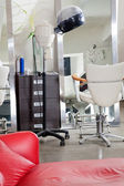 Hair Salon With Steamer And Chair — Stock Photo