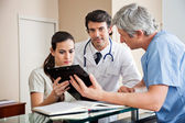 Medical Professionals at Reception — Stock Photo