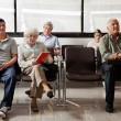Sitting In Hospital Lobby - Stock Photo