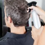Man Getting Haircut In Salon — Stock Photo