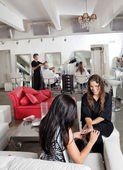 Woman Having Manicure At Parlor — Stock Photo