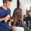 Hairstylists Setting Up Client's Hair — Stock Photo