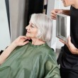 Stock Photo: Hairdresser Showing WomHer Haircut