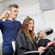 Hairdressers Setting Up Customer's Hair — Stock Photo #22256799